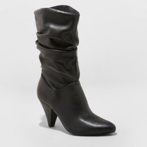 NEW! a new day Black Alisha Slouch Mid Calf Boots